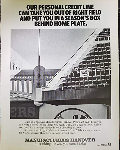 Vintage Manufacturers Hanover Trust Bank Ad- New York Yankees ()