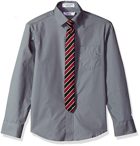 IZOD Boys Long Sleeve Solid Shirt and Tie Set