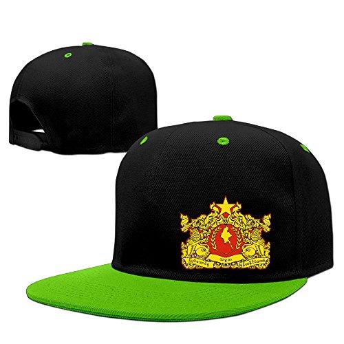State Seal Of Myanmar Cotton Adult Hip Hop Hat Sport Cap