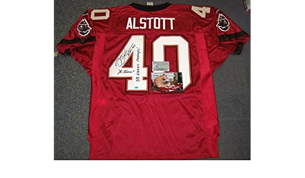 separation shoes 26adf 9dee7 Autographed Mike Alstott Jersey - Bucs Red - PSA/DNA ...