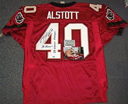 separation shoes d4263 3c4ba Autographed Mike Alstott Jersey - Bucs Red - PSA/DNA ...