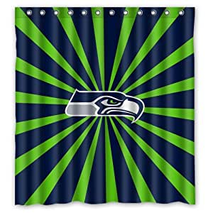 Amazon Custom NFL Seattle Seahawks Stripes Waterproof Polyester Shower Curtain 66x72 Home Kitchen