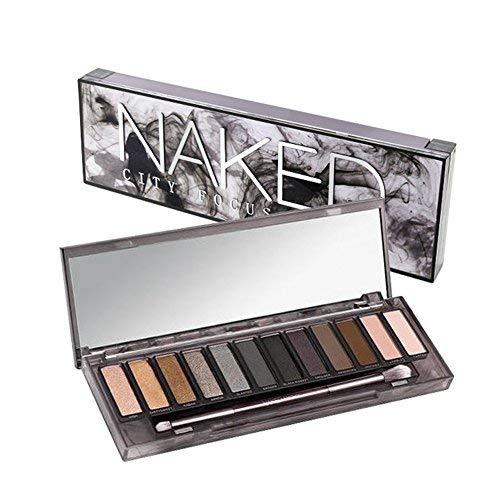 ThinkMax Women Fashion 12 Colors Smoky Nude Makeup Cosmetics Eyeshadow Palette Beauty -