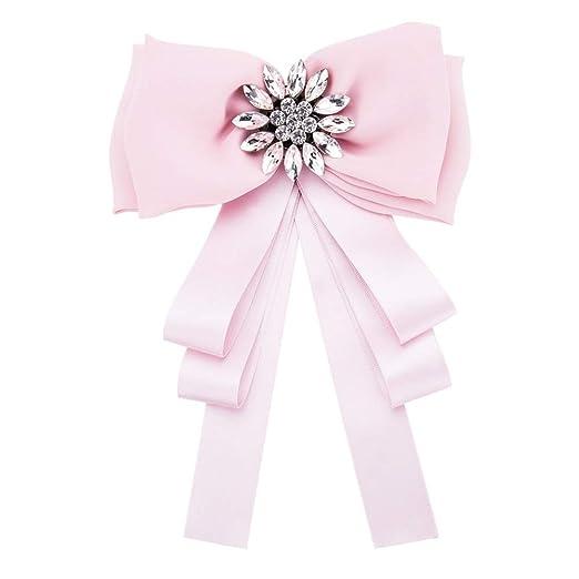 Lady Bow Corbatas Corbata pre-atada de las mujeres broches de moda ...
