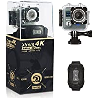 NeuTab Xtrem 4K Action Camera, Full HD Wifi Sports Camera with 4K/24FPS 2K/30FPS 1080P/60FPS Video, 16MP Photo,2 Inch LCD Display,100ft Waterproof Case and 170 Wide-Angle Lens