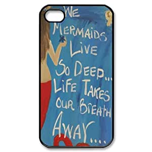 Hjqi - DIY Mermaid Cell Phone Case, Mermaid Custom Case for iPhone 4,4G,4S