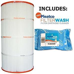 Filtro de cartucho Pleatco PWW100-4-Agua Piscina 100 Leisure Bay WW-100 817-0100 111832 con 1 filtro de lavado