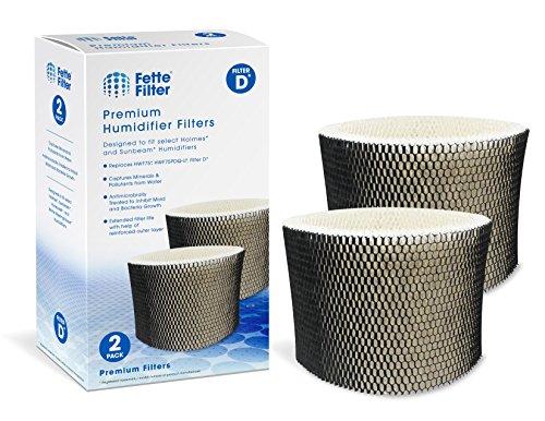 Fette Filter – Humidifier Filter Compatible with Holmes HWF75, HWF75CS, HWF75PDQ-U – Filter D (2-Pack)