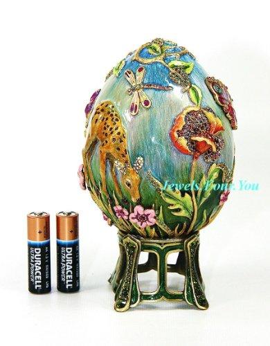 Jay Strongwater Swarovski Meadow Egg with Stand Ltd Edition Box New ()