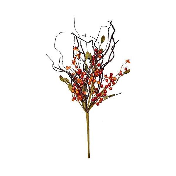 Worth Imports 21″ Fall Berry Twig Bush Spray, Orange & Red