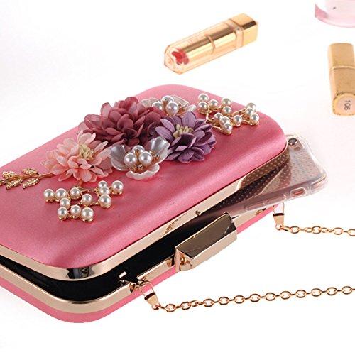 Shiny Women's Bag Bag Diamond Dress Evening Bag Bag Clutch Luxury DeepPink pwYqzFXU