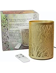 Enchanted Forest Essential Oil Diffuser, Ultrasonic Aromatherapy Humidifier (Gold)