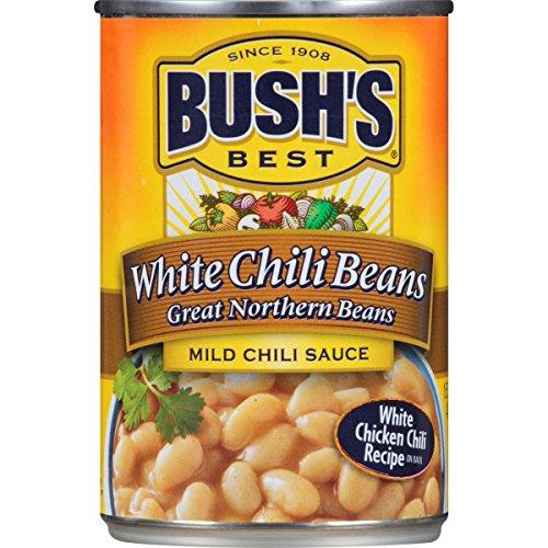Bush's Best Mild White Chili Beans, 15.5 oz (12 cans)