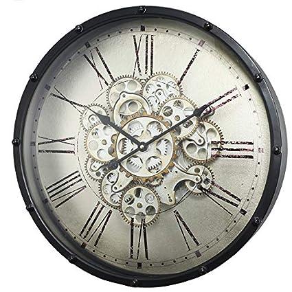 Amazon com: 17 Stories Plastic Round Wall Clock 18