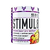 STIMUL8, Original Super Pre-Workout for Men and Women, Stimulate Workouts Like Never Before, Unparalleled Energy, Extreme Effects, Ultimate Preworkout, 40 Servings (Fruit Punch Splash)