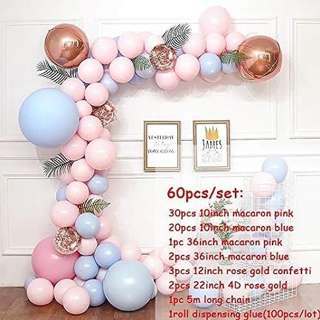 Color : 2 BL Accessori for la Doccia Macaron Balloons Arch Kit Grigio Pastello Rosa Palloncini Ghirlanda in Oro Rosa Confetti Globos Festa Nuziale della Baby