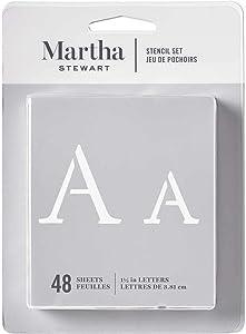 Martha Stewart Crafts Alphabet Stencil, 32277 Monogram Serif