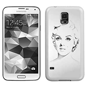 Sketched Monroe (2) Durable High Quality Samsung Galaxy S5 Case