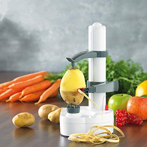 High quality Electric spiral Apple Peeler Cutter Slicer Fruit Peeling Automatic Battery Operated (Apple Peeling Machine)