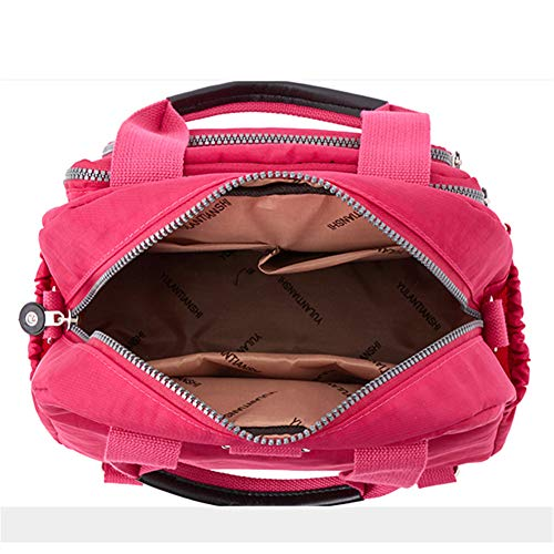 Rose OURBAG Ladies Bag Large Bag Crossbody Nylon Mummy Casual Backpack Multifunctional Black Travel Bag Waterproof Shoulder Women EnPfAcF6Zq