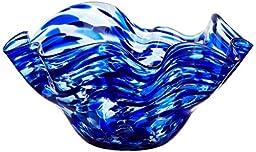 KOBO Art Garden Glass Wavy Bowl - Cobalt Blue