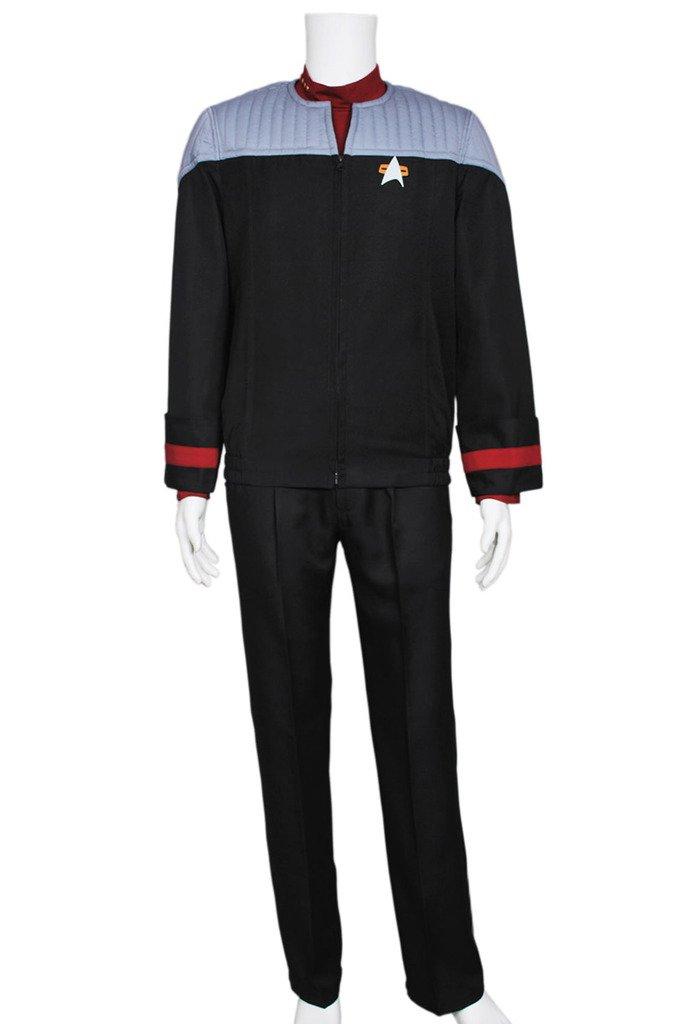 Fancy Style FancyStyle Star Trek Nemesis Voyager Cosplay Sisko Costume Grey Custom Made