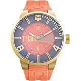 TechnoSport Woman's Chrono Watch - Gold / Salmon