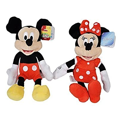 "Disney Mickey and Minnie Mouse 9"" Bean Plush - 2 Pack: Toys & Games"