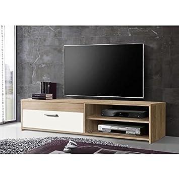 KATSO Meuble TV 120 cm coloris chene blanc Amazon Cuisine & Maison