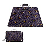 LOIGEIDQ Picnic mat Light Pattern Waterproof Outdoor Picnic Blanket, Sandproof and Waterproof Picnic Blanket Tote for Camping Hiking Grass Travelling DualLayers