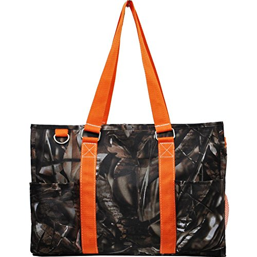 N Gil All Purpose Organizer Medium Utility Tote Bag 3 (Camo Orange) by NGIL