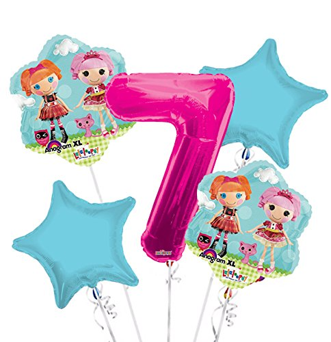 Lalaloopsy Balloon Bouquet 7th Birthday 5 pcs - Party Supplies for $<!--$9.99-->