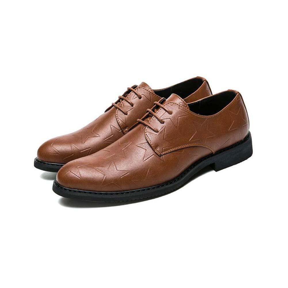 FuweiEncore Herren Lederschuhe, Formale Büro Schuhe, Schuhe, Schuhe, Britische Stil Spitz Schuhe, Jugend Wilde Business Schuhe, Casual Dress Schuhe, (Farbe   Braun, Größe   41) (Farbe   Braun, Größe   39) 99bd8f