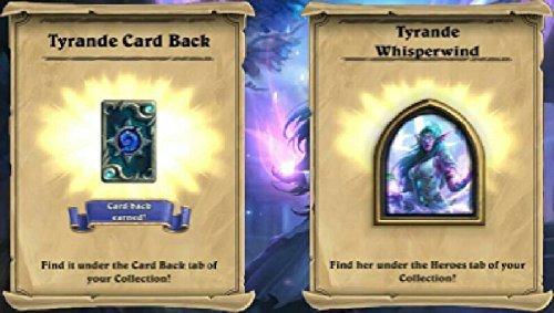 Hearthstone Tyrande Avatar and Whisperwind Card Back Digital
