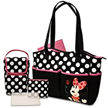 Disney - Minnie 5-in-1 Diaper Tote Bag Set