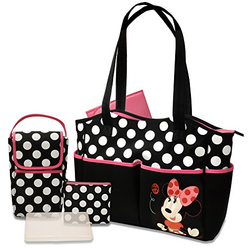 Disney 5 in 1 Diaper Tote Bag Set, Minnie (1 Seat Bag)