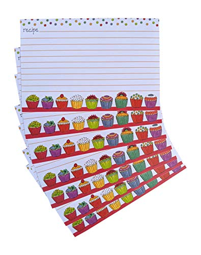 20 lined Recipe Cards by Gina B. Designs - Colorful -