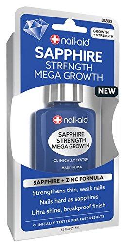 NAIL-AID Sapphire Strength Mega Growth, Clear, 0.55 Fluid Ounce