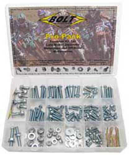 02-16 HONDA CRF450R: Bolt Off-Road Metric Bolt Motorcycle Hardware Kit (SILVER)
