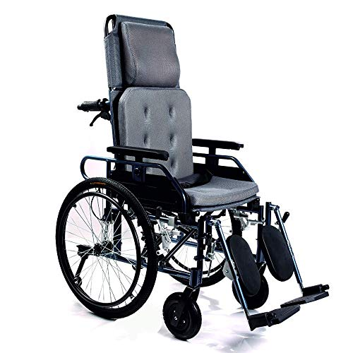 KosmoCare Crest Series Aluminium Recliner Light Foldable Wheelchair with Frame