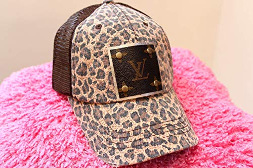Leopard Print Trucker Hats, Custom Ladies Baseball - Hat Lv
