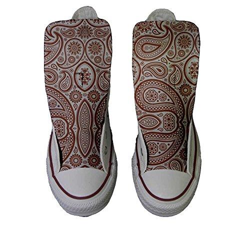 Paisley artisanal Unisex Star coutume 42 Elegant Sneaker personnalisé chaussures Hi produit EU size Converse All qEwxPz0n1