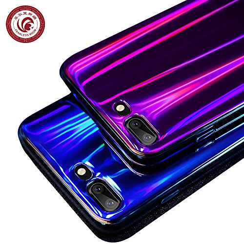 - iPhone 7 Case, iPhone 8 Case,FEARLESSBOOM Aurora Laser Mirror Psychedelic Holographic rainbow bling glitter disco vintage shining Silica gel TPU Case for Apple iPhone 7/8 (Aurora Blue)