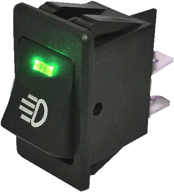 Qiorange 2 X 12V 20A Carbon Fiber Cover LED Light Rocker Toggle Switch SPST ON//OFF Car Vehicle Boat Blue 2 Pcs