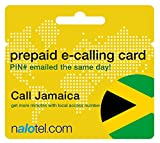 Prepaid Phone Card - Cheap International E-Calling Card $20 for Jamaica with same day emailed PIN, no postage necessary