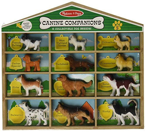 Figure Miniature Dog - Melissa & Doug Canine Companions Pretend Play Figures - 12 Collectible Dog Breeds