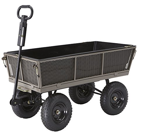 Gorilla Carts Steel Dump Cart with Removable Sides and Full