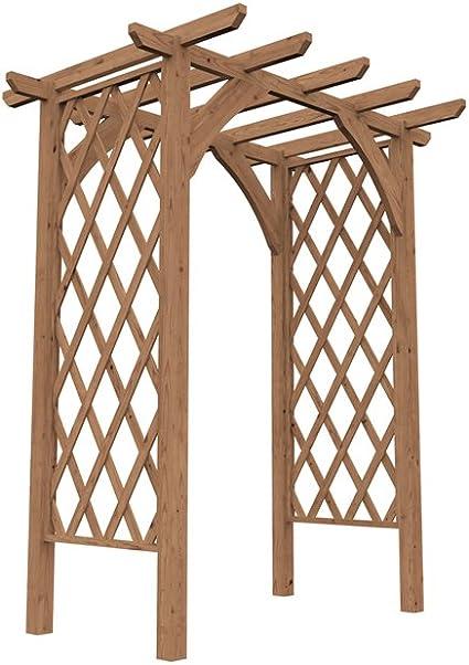 Dunster House Pergola Enrejado Arco de Madera para Plantas de ...