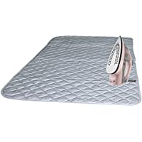 Bukm Ironing Blanket, Magnetic Ironing Mat Laundry Pad, Quilted Washer Dryer Heat Resistant Pad, Ironing Board Covers (33 1/2 x 19, Grey) (Grey)