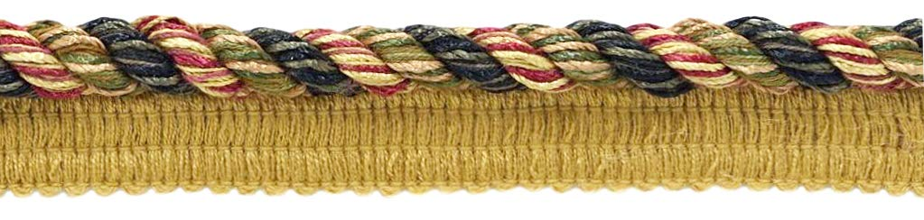 DÉCOPRO 24 Yard Package|Large 3/8 inch Claret, Camel, Branch Green, Black, Brown, Mocha Basic Trim Cord with Sewing Lip|Style# 0038DKL|Color: Tuscany - F40 (72 Feet / 21.9 Meters) by DÉCOPRO